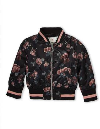 Urban Republic Infant Girls) Floral Bomber Jacket