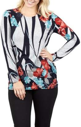 Izabel London Womens *Izabel London Multi Colour Floral Print Knitted Top