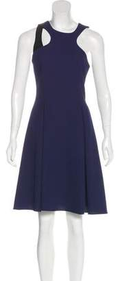 Prabal Gurung Leather-Accented Cocktail Dress w/ Tags