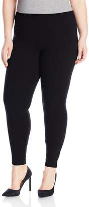 Hue Women's Plus Size High Waist Out Ponte Leggings