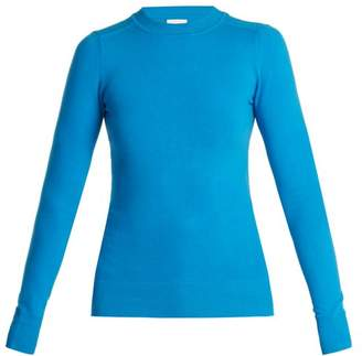 Joostricot - Crew Neck Cotton Blend Sweater - Womens - Blue