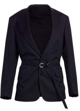 Junya Watanabe Pinstripe Wool Knit Dress Jacket