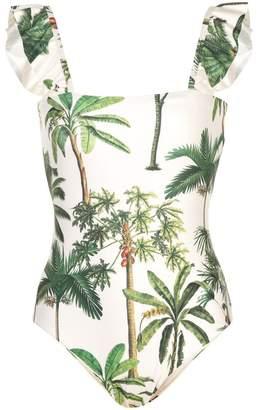 a57c7dec22 Agua Bendita Agua By palm tree print one-piece