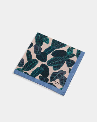 Ted Baker KAROTI Leaf print silk pocket square