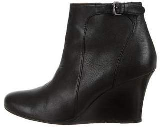 Lanvin Leather Round-Toe Booties