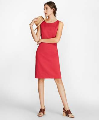 Brooks Brothers Ponte Knit Sleeveless Sheath Dress