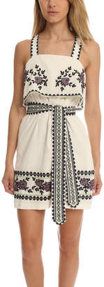 Suno Cross Stitch Tie Dress