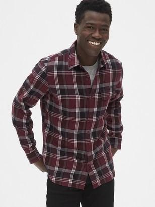 Gap Plaid Flannel Shirt in Standard Fit