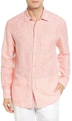 Men's Tommy Bahama Check Linen Sport Shirt $118 thestylecure.com