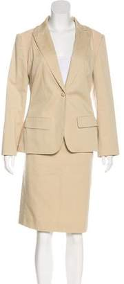 Alexander McQueen Peak-Lapel Skirt Suit