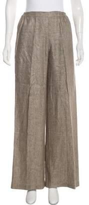 eskandar Linen High-Rise Wide Pants