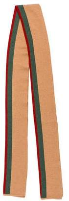 Gucci Camel and Silk-Blend Scarf