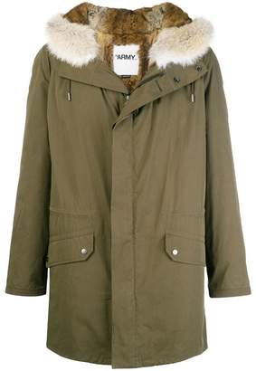 Yves Salomon Army fur-trimmed army coat