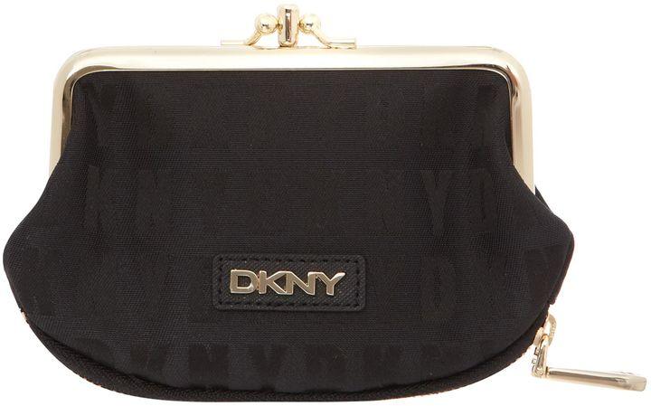 DKNY Black double frame small purse