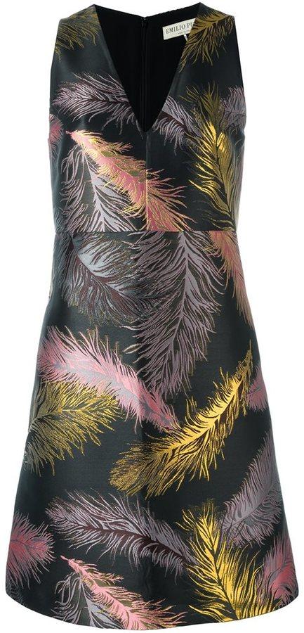 Emilio PucciEmilio Pucci feather jacquard dress