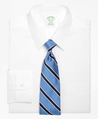 Brooks Brothers Milano Slim-Fit Dress Shirt, Forward Point Collar