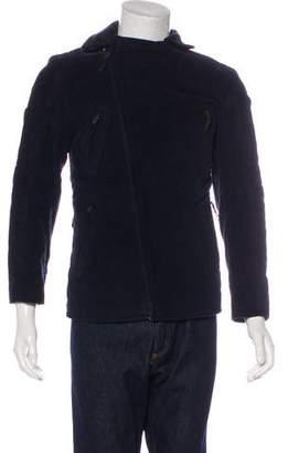 CNC Costume National Velvet Moto Jacket