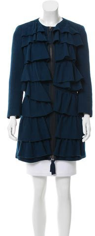 3.1 Phillip Lim 3.1 Phillip Lim Ruffled Wool Coat