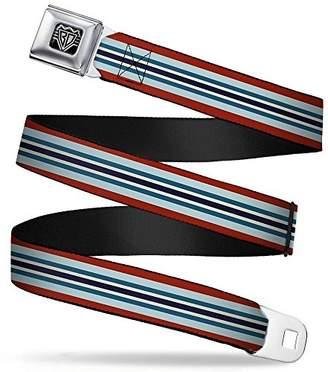 Buckle-Down Unisex-Adults Seatbelt Belt Stripes XL Black/Gold
