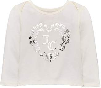 Juicy Couture Girls Encrusted Heart Long Sleeve Tee