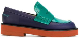 Marni colour blocked loafers