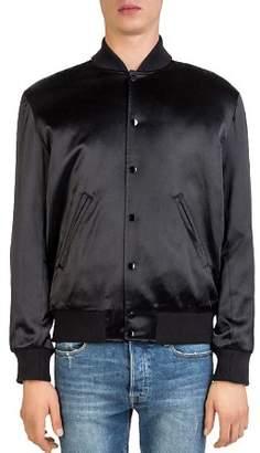 The Kooples Fancy Teddy Satin Bomber Jacket