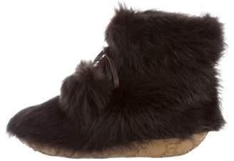 Viktor & Rolf Faux Fur Ankle Boots Brown Faux Fur Ankle Boots