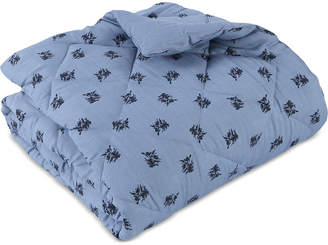 """Berkshire 50"""" x 70"""" Floral Chambray Quilted Down-Alternative Throw"""
