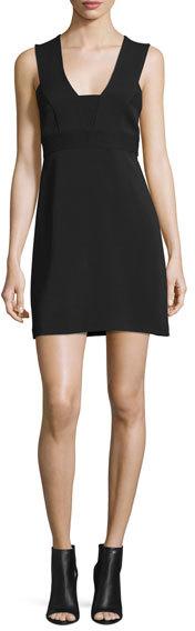 A.L.C.A.L.C. Carmela Ponte Mini Dress, Black