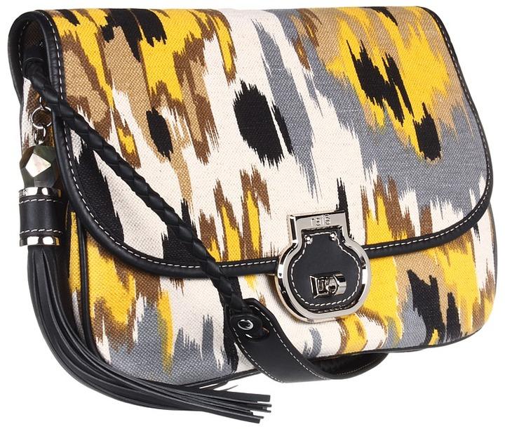 Rafe New York Angela Ikat Print Flap Clutch (Yellow Multi) - Bags and Luggage