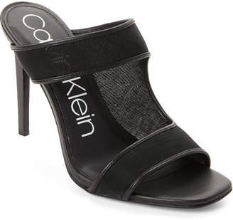 Calvin Klein Black Dalali Mesh High Heel Mule Sandals