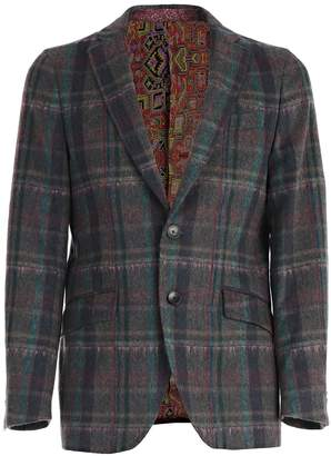 Etro Checked Tailored Blazer