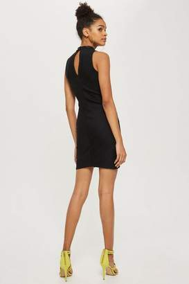 Love **High Neck Ribbed Bodycon Dress