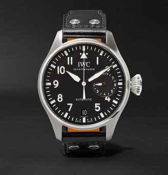 IWC SCHAFFHAUSEN Big Pilot's 46mm Stainless Steel And Leather Watch