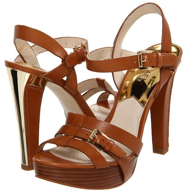MICHAEL Michael Kors Grace Platform (Luggage) - Footwear