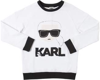 Karl Lagerfeld Print Cotton Sweatshirt