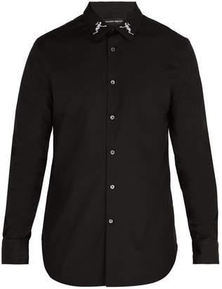 Alexander McQueen Dancing Skeleton collar shirt