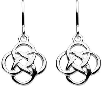 Heritage Sterling Silver Celtic Open Knotwork Drop Earrings