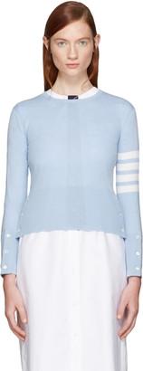 Thom Browne Blue Classic Crewneck Short Pullover $1,390 thestylecure.com