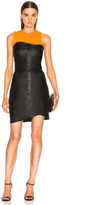 Helmut Lang Leather Strapless Dress
