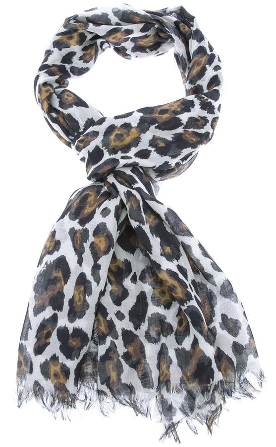 Stella McCartney leopard print scarf