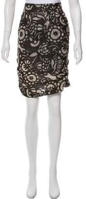 Diane von Furstenberg Linen Pencil Skirt