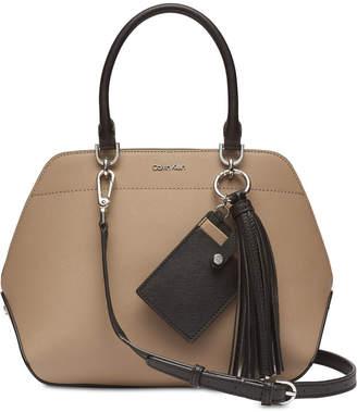 Calvin Klein Susan Saffiano Leather Small Satchel