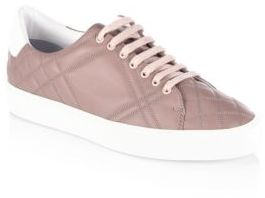Burberry Westford Quilted Leather Check Sneakers