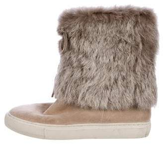 Tory Burch Anjelica Rabbit Fur Boots