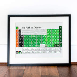 Celtic On A Sixpence Football Periodic Table Art Print