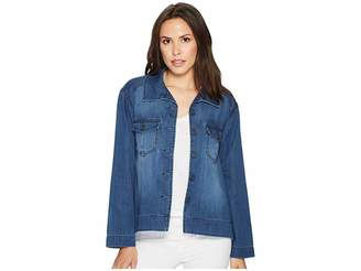 Liverpool Cropped Trapeze Jacket with Front Chest Pockets in Modal-Soft Dressing Women's Coat