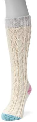 Muk Luks Women's Color Pop Cable-Knit Knee-High Socks