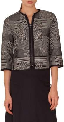 Akris Punto Graphic Jacquard Jacket