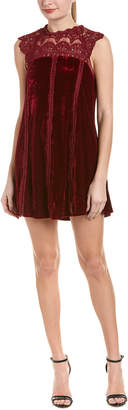 Dee Elly 4SI3NNA Velvet Shift Dress